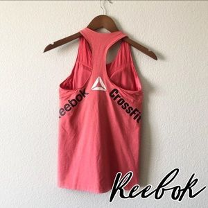 Reebok CrossFit pink fitted workout fitness tank M